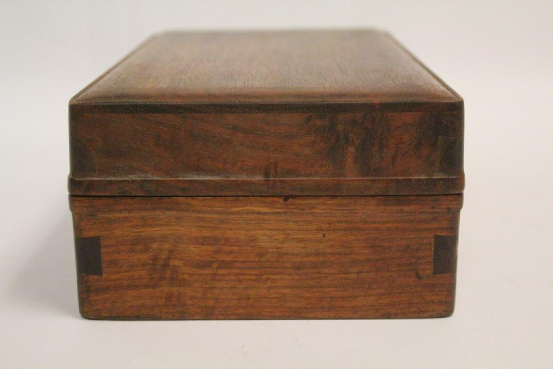 Chinese small rosewood box - 3