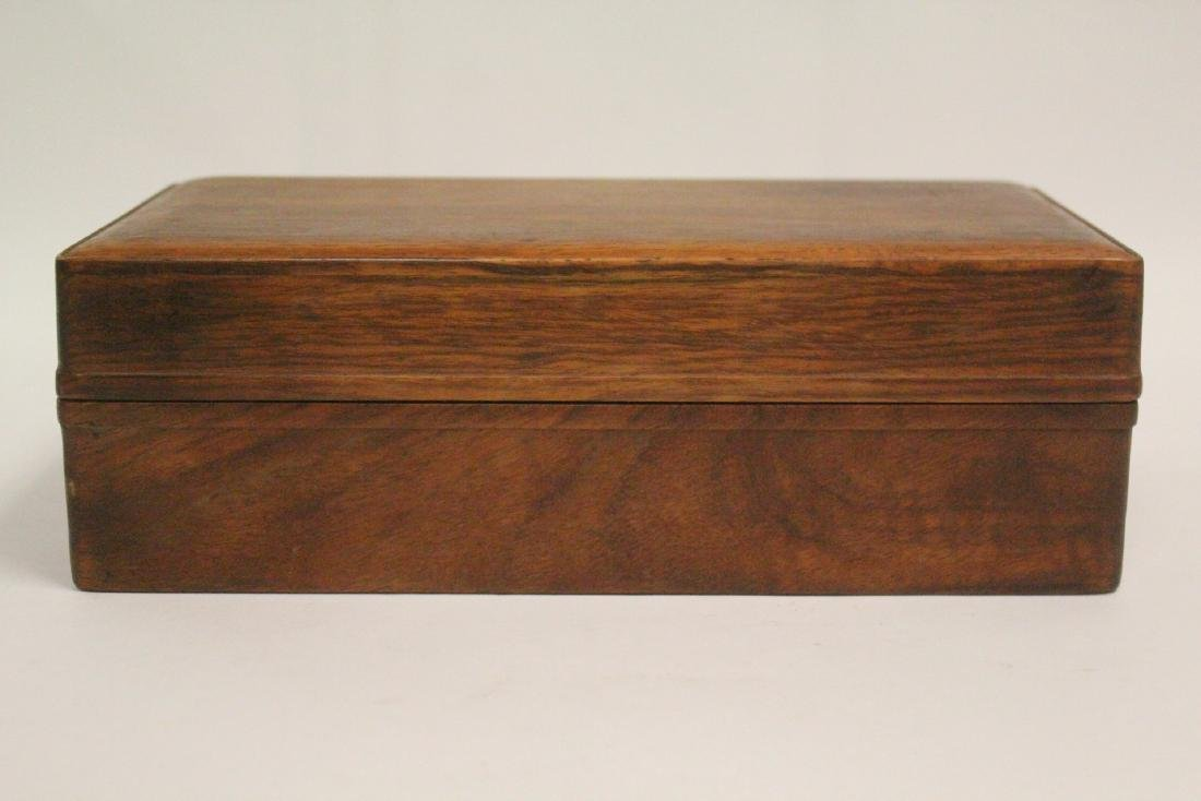 Chinese small rosewood box - 4