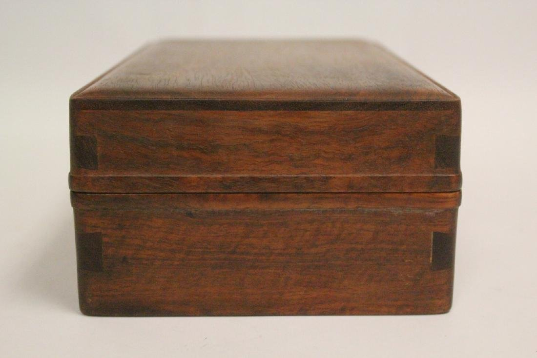 Chinese small rosewood box - 5