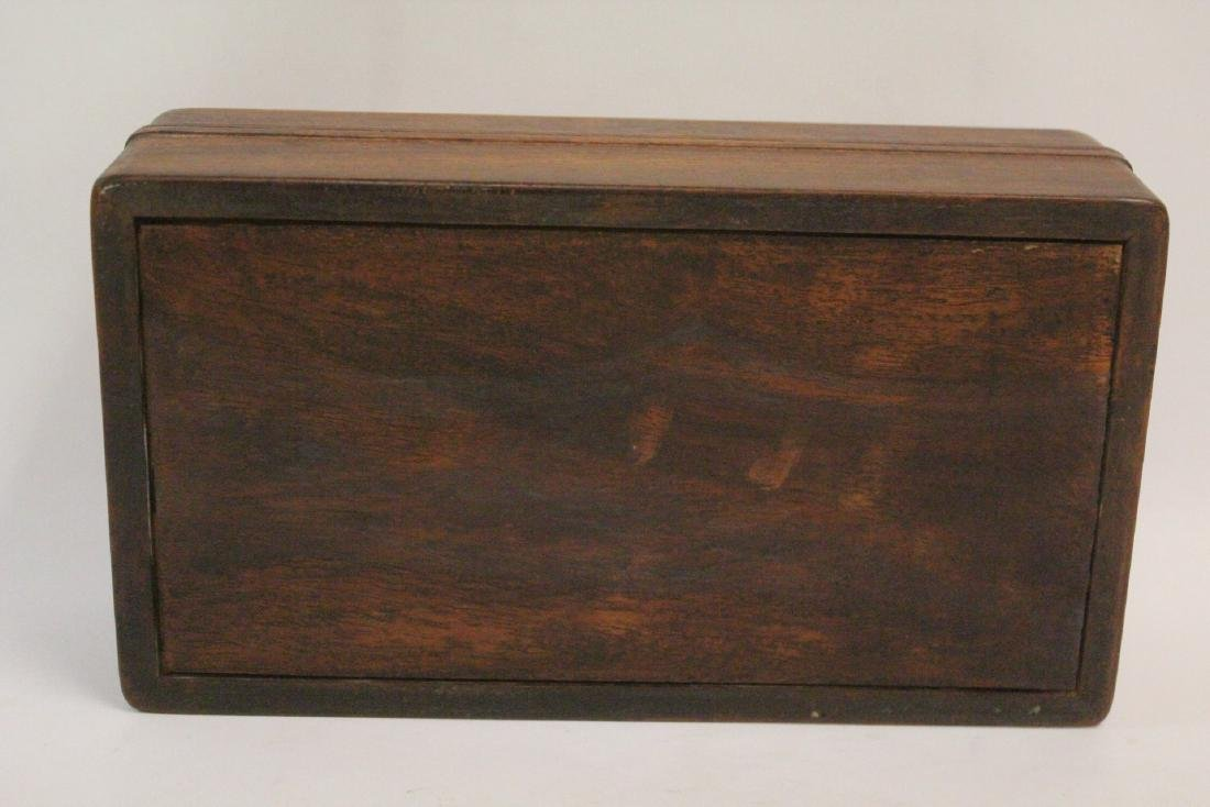 Chinese small rosewood box - 8