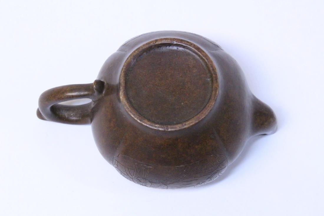 Chinese bronze teapot - 6