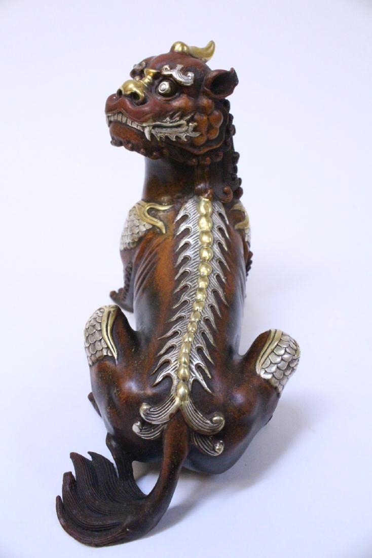 Chinese bronze qilin - 4