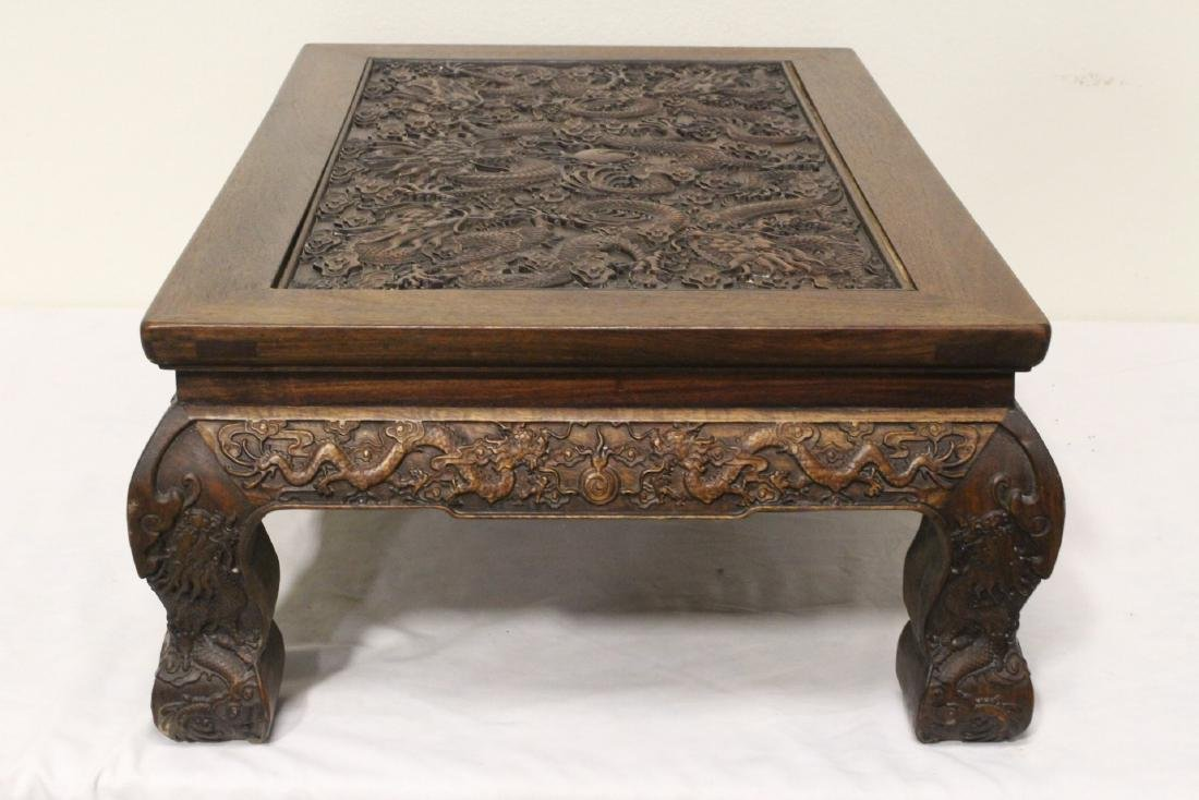 Chinese rosewood low table - 9