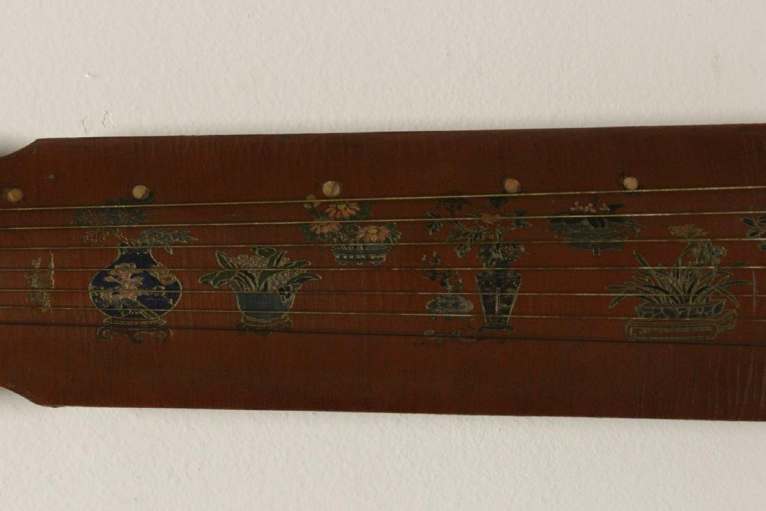 Chinese lacquer music instrument - 4
