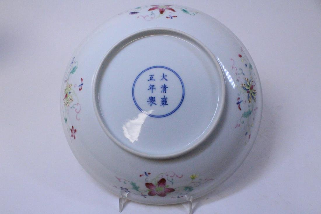 painted Chinese famille rose porcelain plate - 9