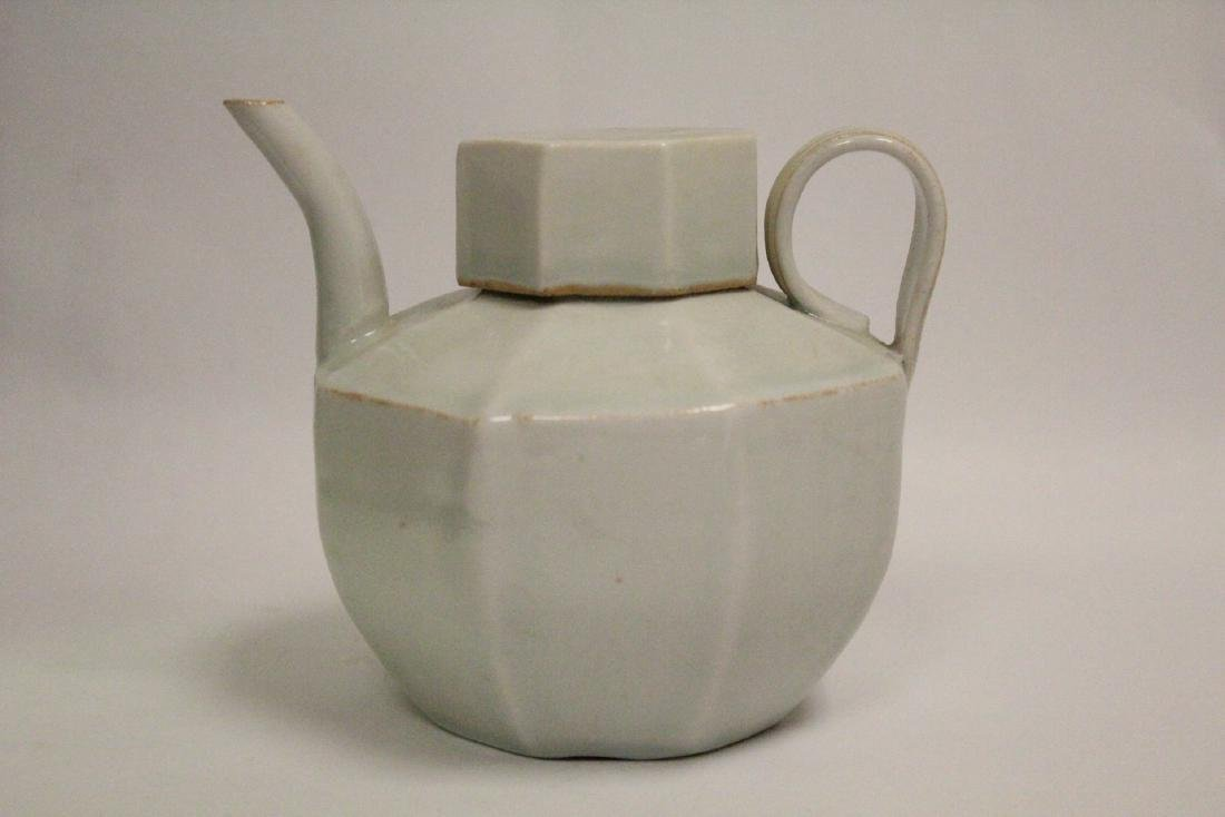 Chinese Song style celadon porcelain teapot - 10