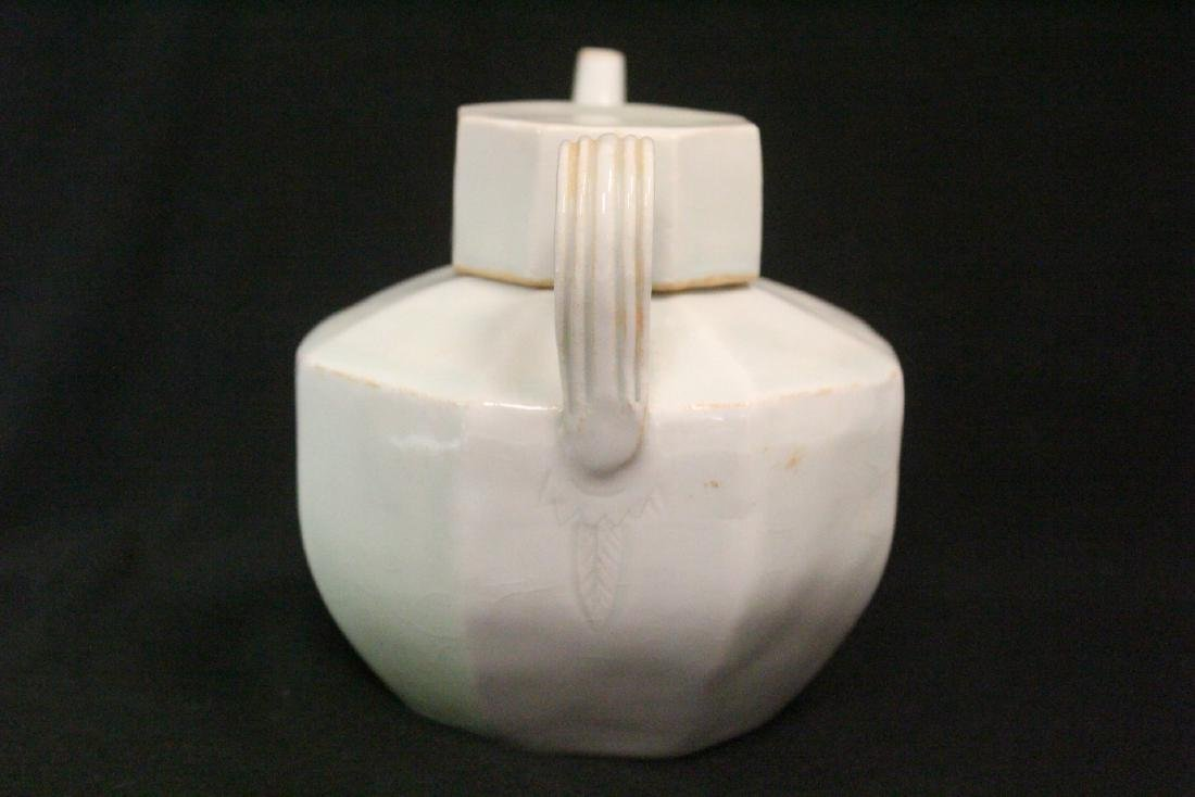 Chinese Song style celadon porcelain teapot - 4