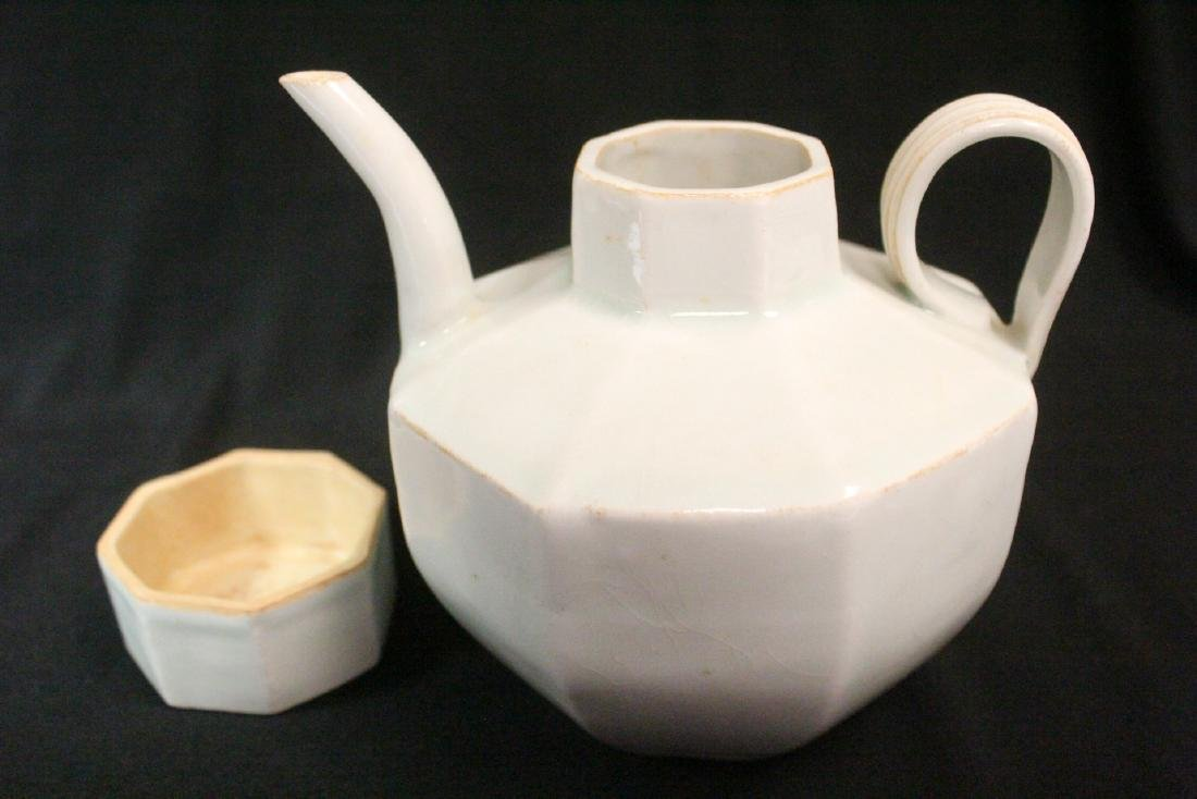 Chinese Song style celadon porcelain teapot - 8