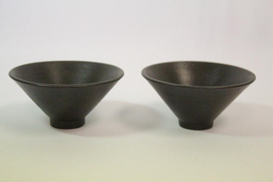 2 Chinese Song style tea bowls