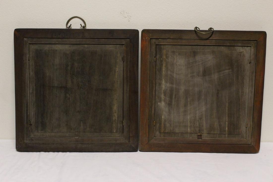 2 frame porcelain plaques - 10