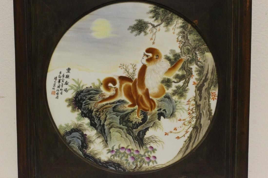 2 frame porcelain plaques - 2