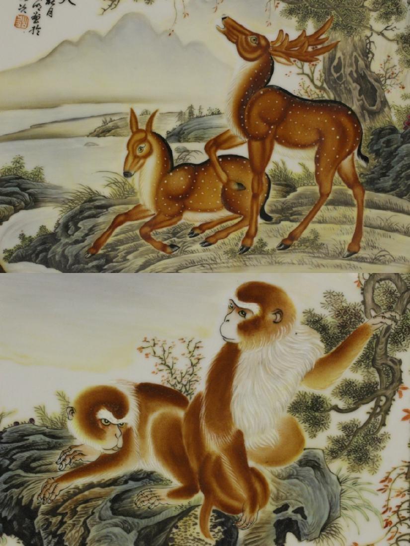 2 frame porcelain plaques - 9