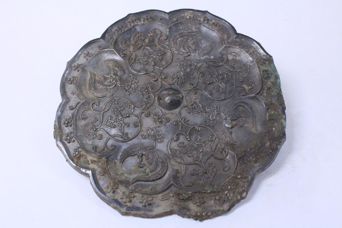 Large Chinese bronze mirror