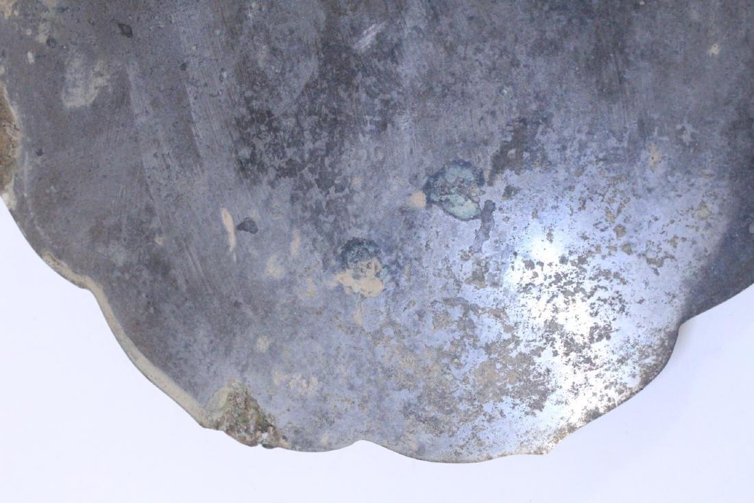Large Chinese bronze mirror - 9