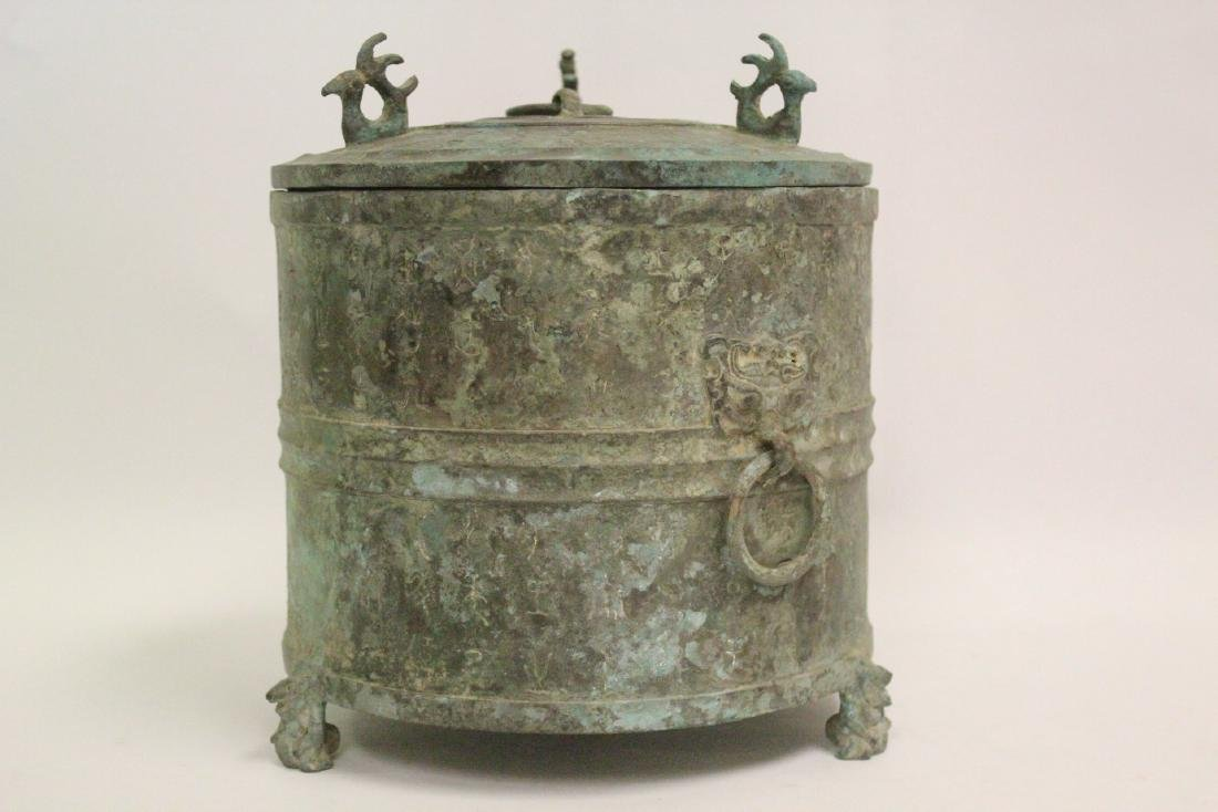 Chinese archaic style bronze covered hu - 5