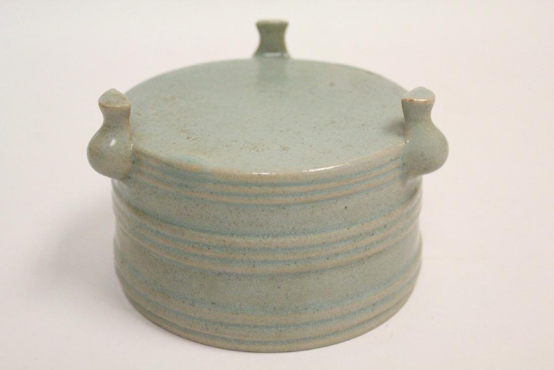 Chinese Song style celadon porcelain censer - 10
