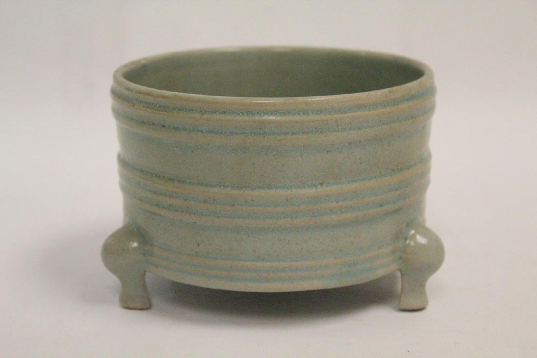 Chinese Song style celadon porcelain censer