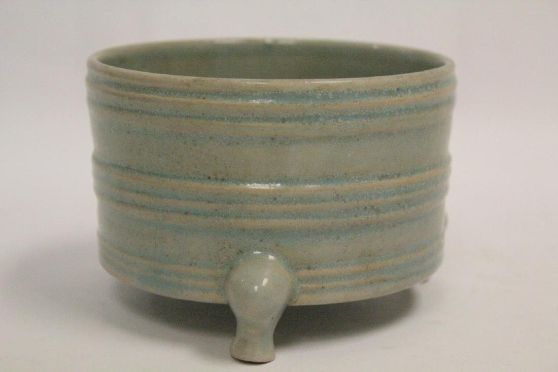 Chinese Song style celadon porcelain censer - 2
