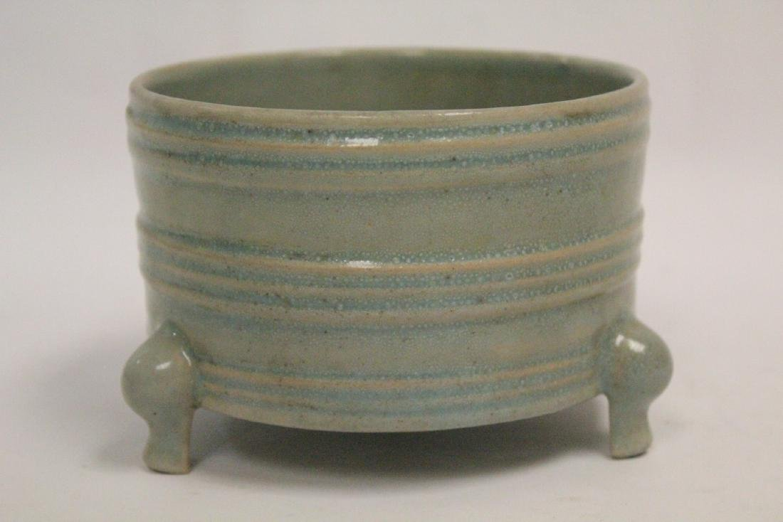 Chinese Song style celadon porcelain censer - 3