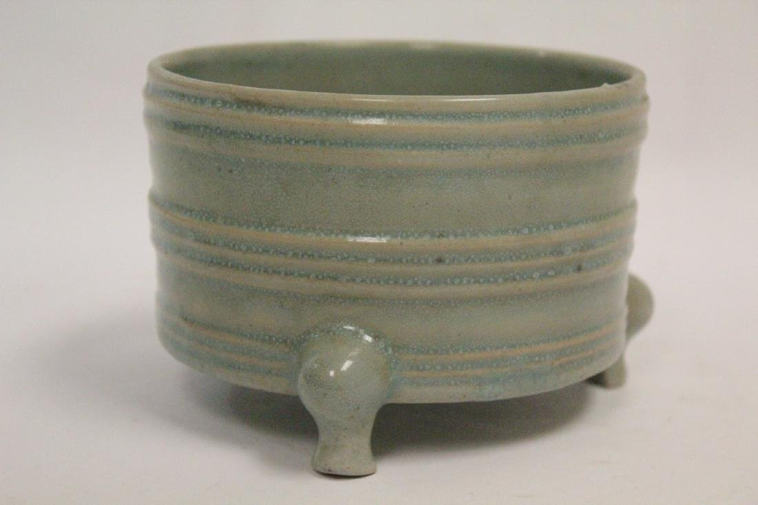 Chinese Song style celadon porcelain censer - 4