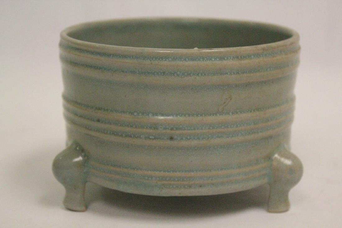 Chinese Song style celadon porcelain censer - 5