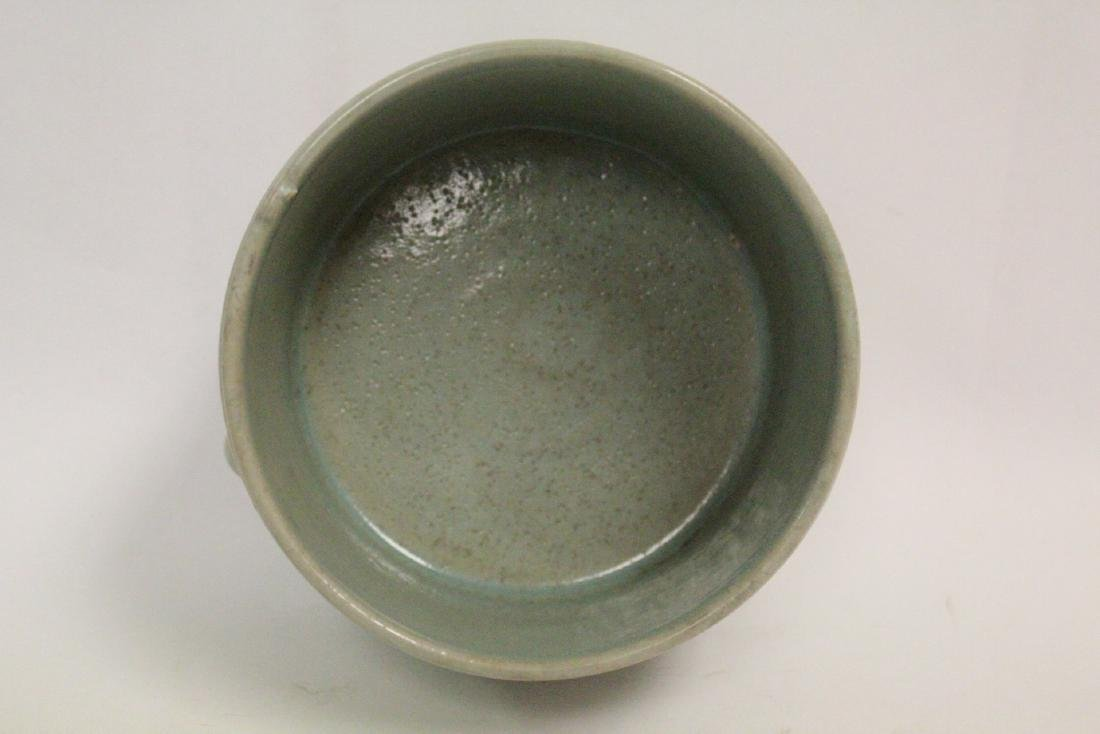 Chinese Song style celadon porcelain censer - 6