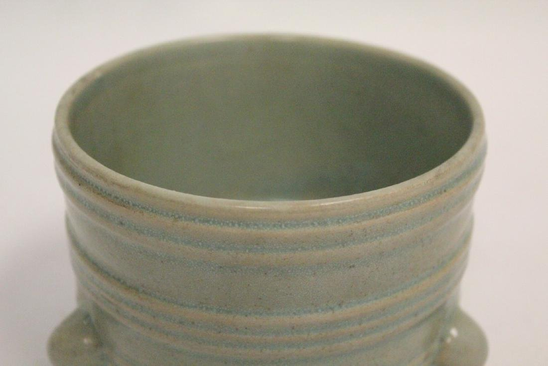 Chinese Song style celadon porcelain censer - 7