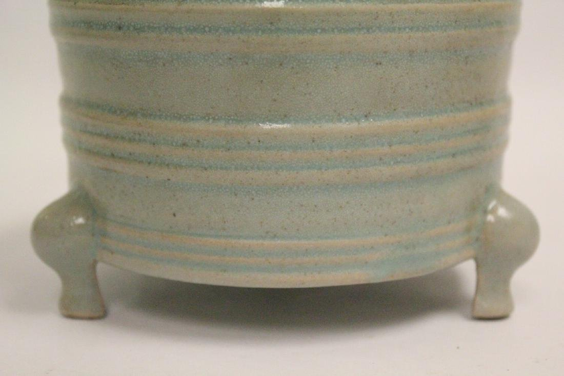 Chinese Song style celadon porcelain censer - 8