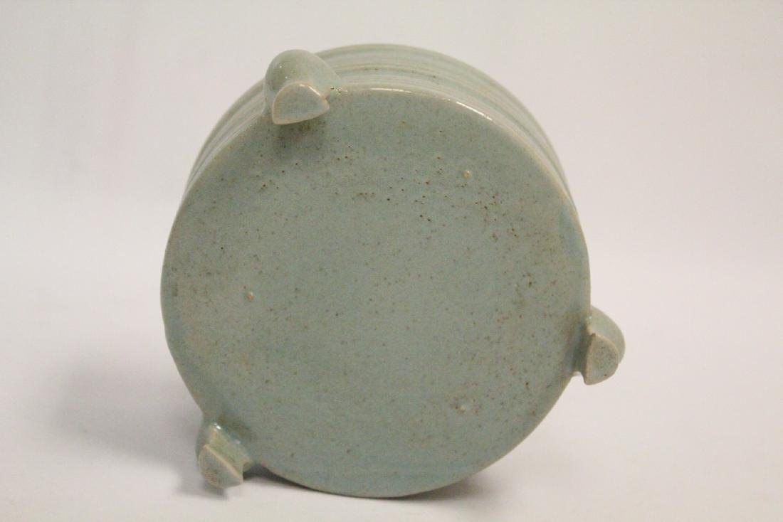 Chinese Song style celadon porcelain censer - 9