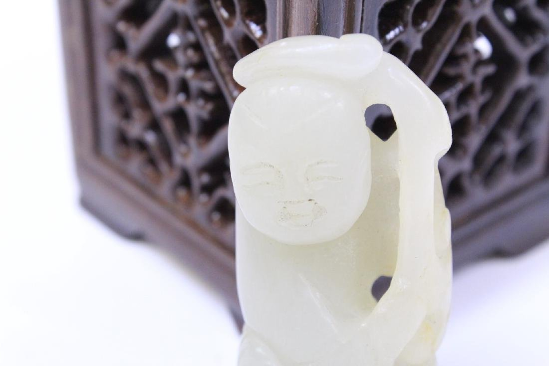 2 jade carved ornament, one in figure motif - 9