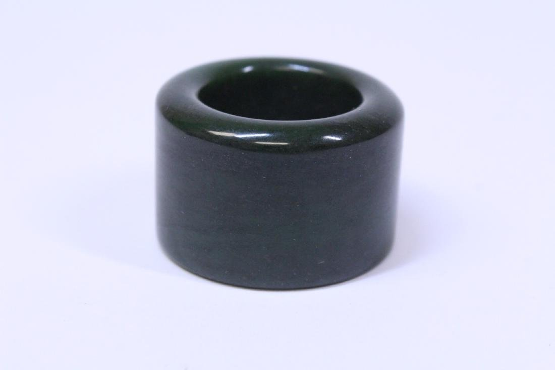 An archer's ring and dzi bead style bead - 2