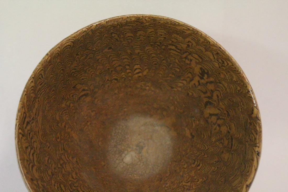 Chinese marbled porcelain bowl - 3