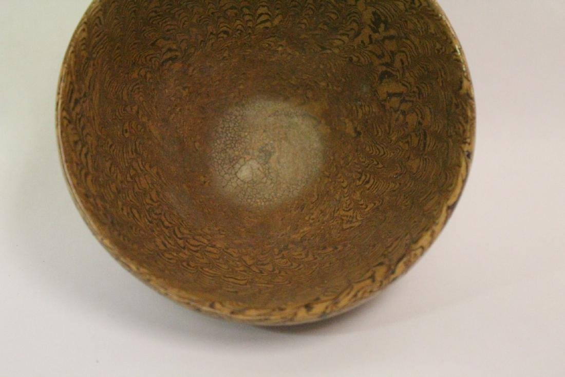Chinese marbled porcelain bowl - 4