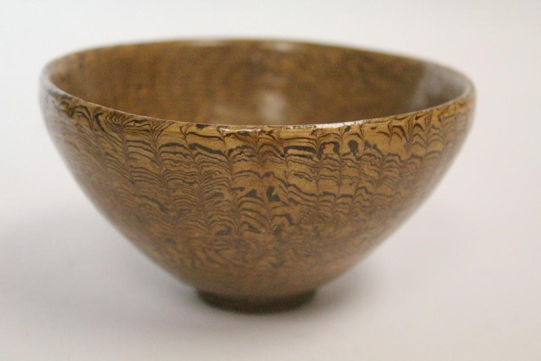 Chinese marbled porcelain bowl - 6