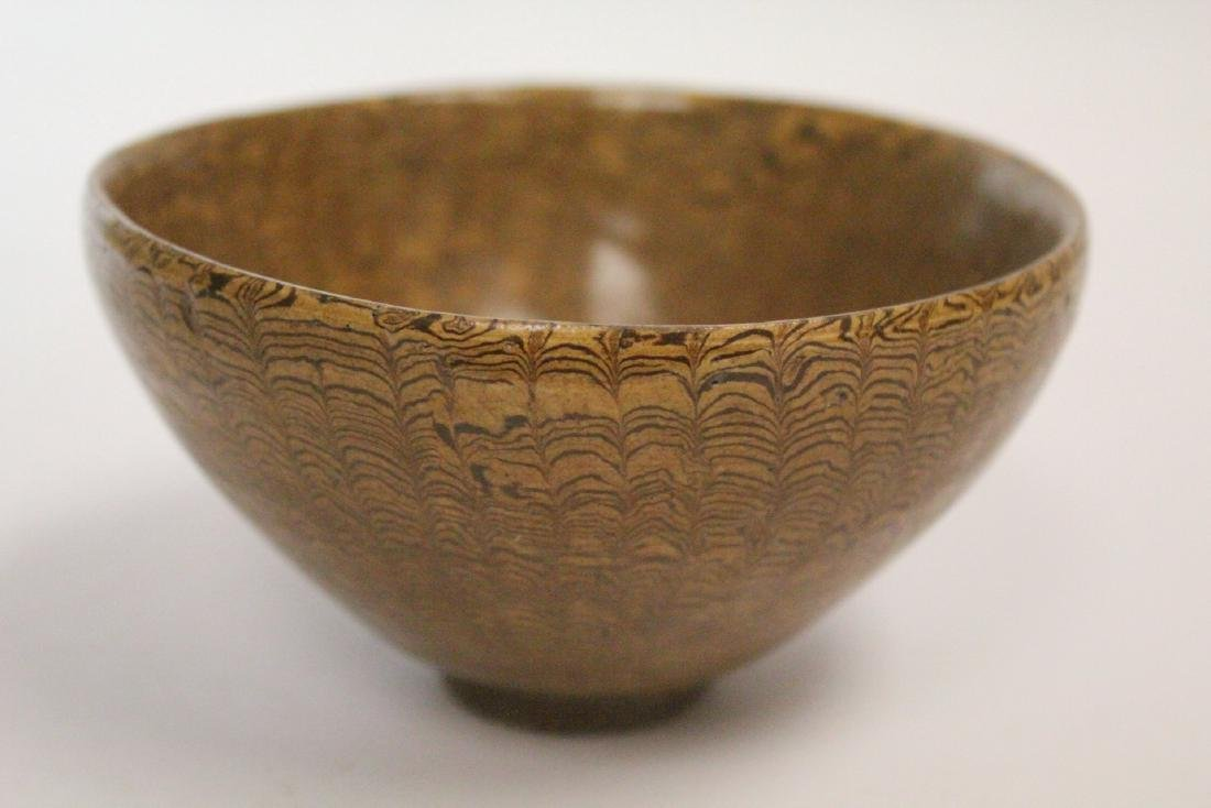 Chinese marbled porcelain bowl - 7