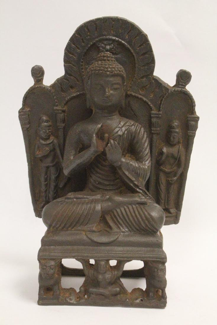 Chinese cast iron Buddha