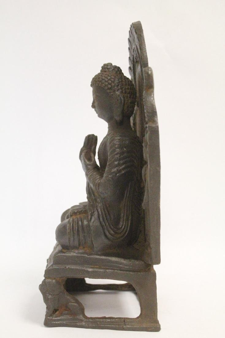 Chinese cast iron Buddha - 2