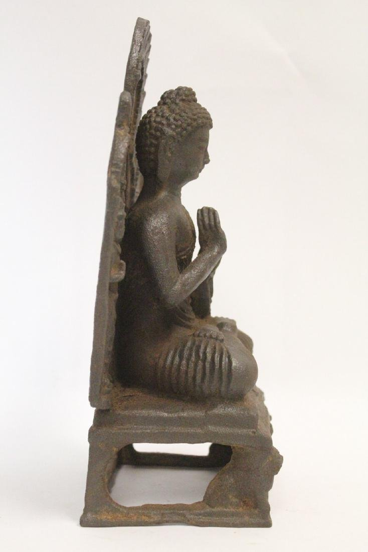 Chinese cast iron Buddha - 5
