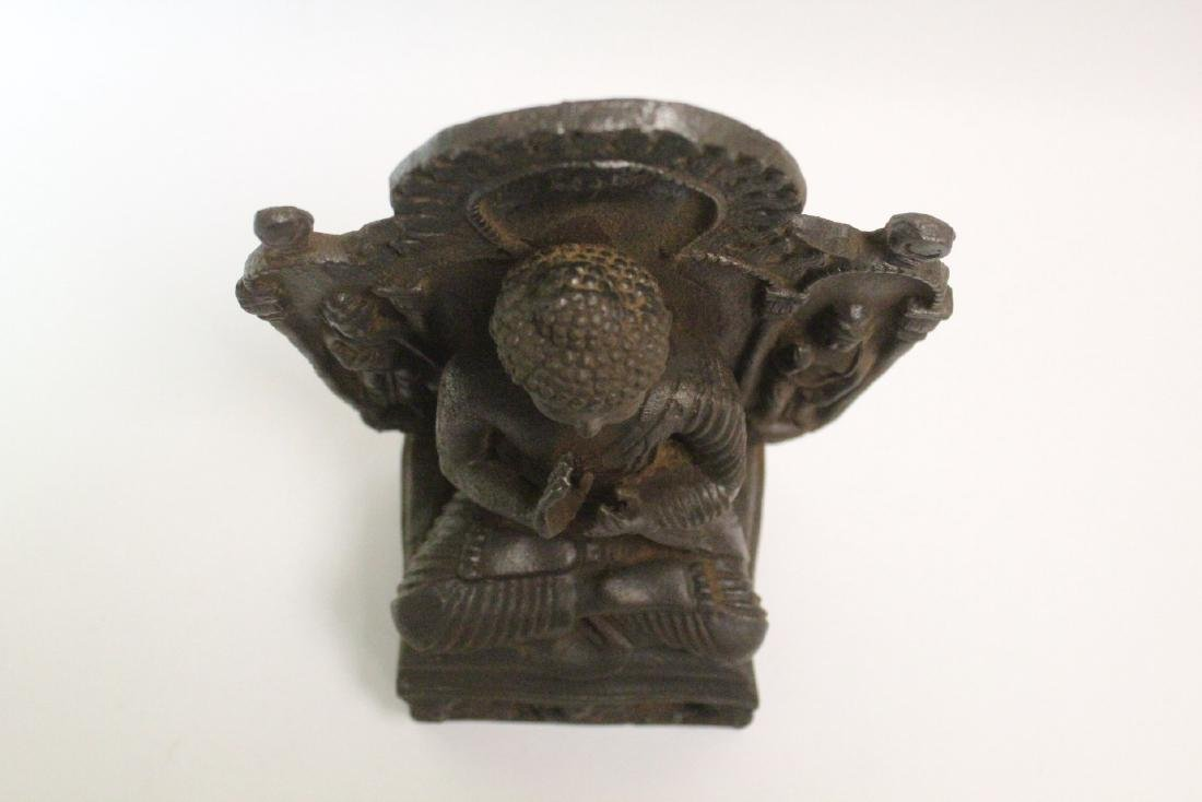 Chinese cast iron Buddha - 6