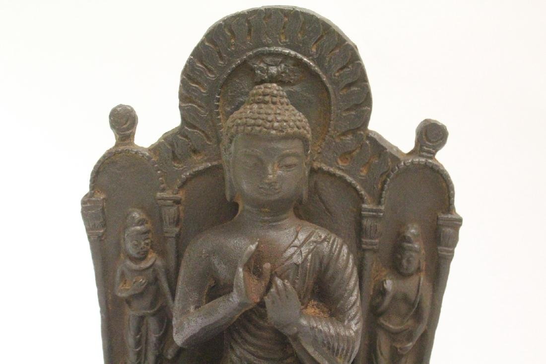 Chinese cast iron Buddha - 8