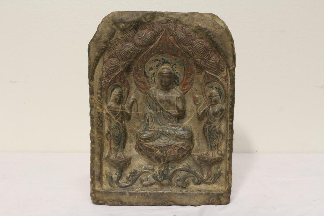 Chinese stone plaque