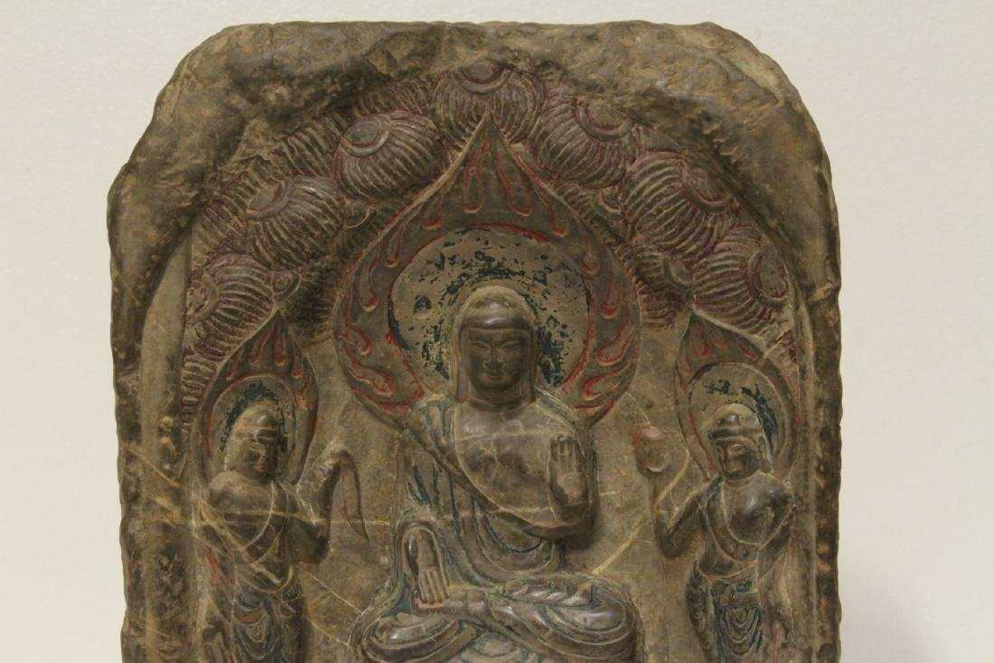 Chinese stone plaque - 3