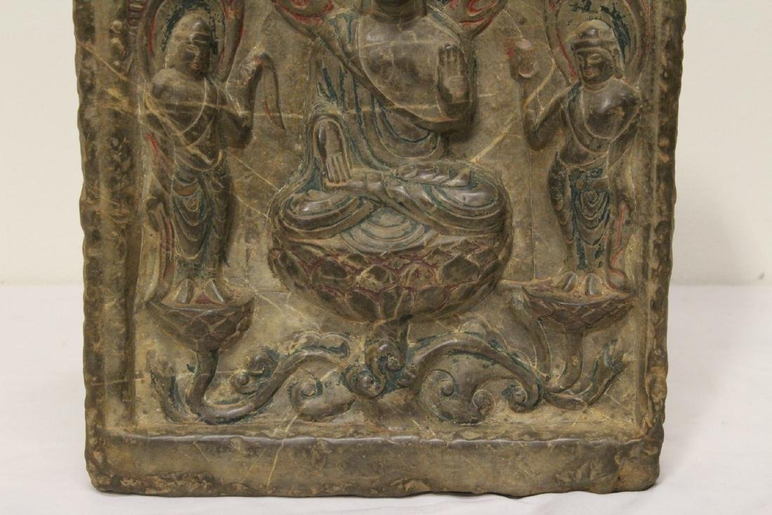 Chinese stone plaque - 4