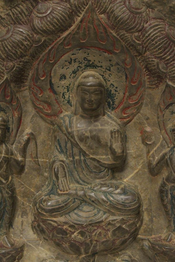 Chinese stone plaque - 5