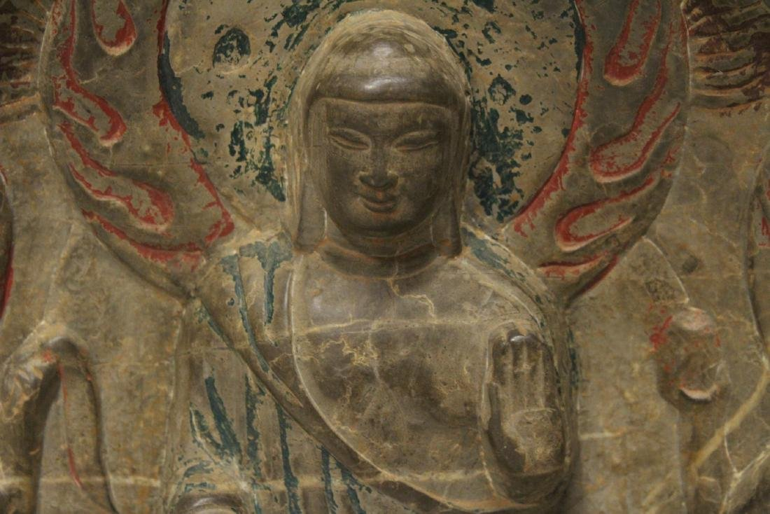 Chinese stone plaque - 8