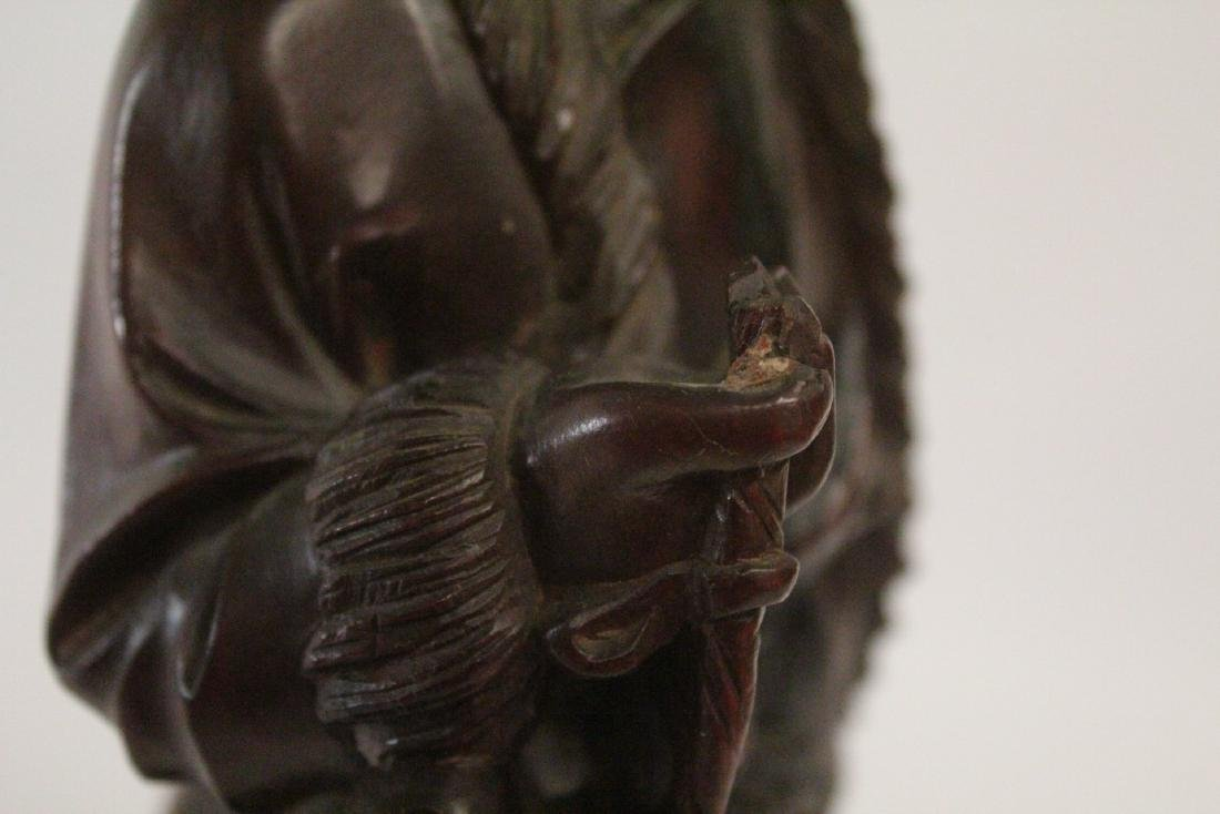 Chinese wood carved figure - 10
