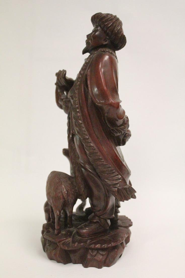 Chinese wood carved figure - 2