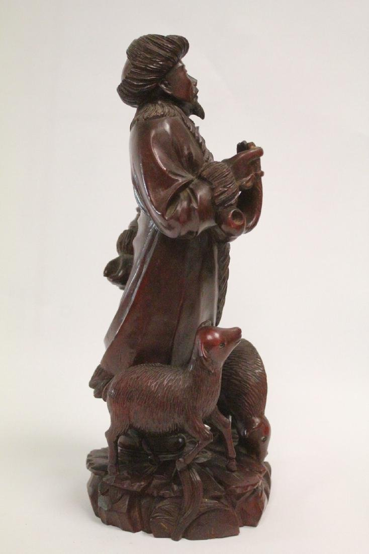 Chinese wood carved figure - 4