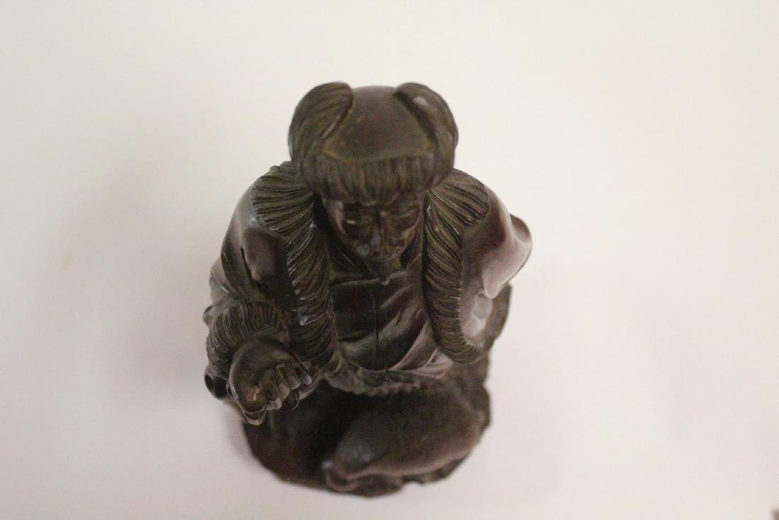 Chinese wood carved figure - 5