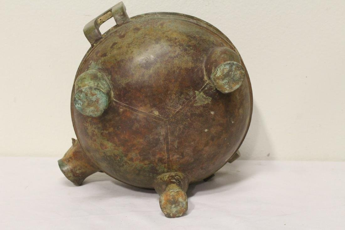 Chinese archaic style bronze tripod ding - 10